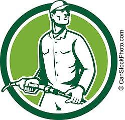 Gas Jockey Gasoline Attendant Fuel Pump Nozzle -...