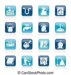 Cleaning and hygiene icons - vector icon set, Created For...