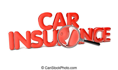 car insurance text isolated on white background