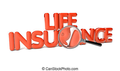life insurance text isolated on white background