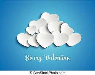 Valentine Day Heart Clouds