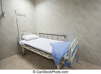 Beds in a hospital ward - Beds in a private hospital medical...
