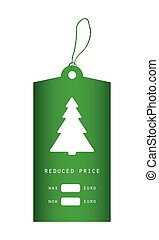 Price tag with Christmas design