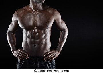 Torso,  muscular,  copyspace, hombre
