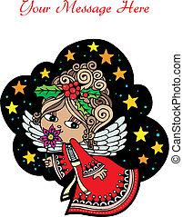 christmas angel custom2 - Christmas Card Angel 6. Christmas...