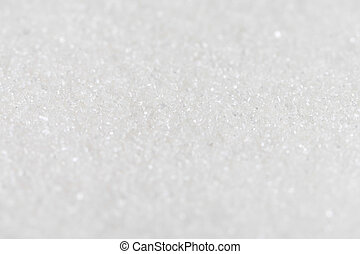 White Organic Cane Sugar against a background Selective...