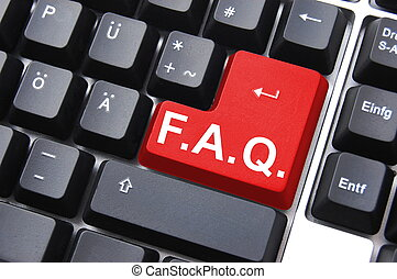 faq - frequently asked questions or faq written on computer...