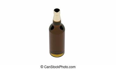 Bottle of dark beer