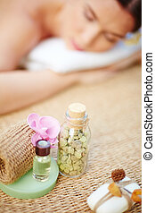 Products for body treatment - Cosmetic objects for body care...