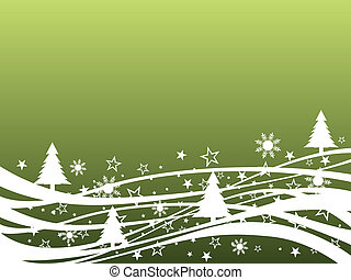 winter scene - vector illustration of a winter landscape