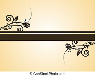 floral banner - vector illustration of a floral background