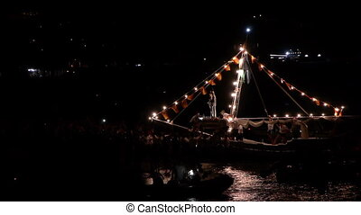 boat of the Virgin of Carmen - boat of the Virgen del Carmen...