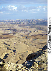 Crater Ramon in Negev desert in Israel...