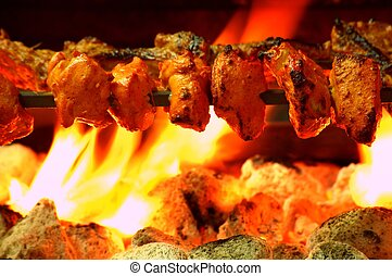 Chicken Tikka - Indian Chicken Tikka Kebab Flame Grilled