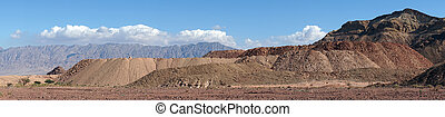 Timna park - Mineral quarry in Timna park in NEgev desert,...