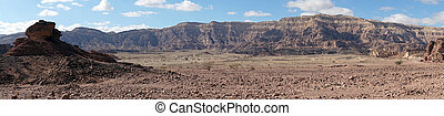 Timna park - Panorama in Timna park in Negev desert, Israel...