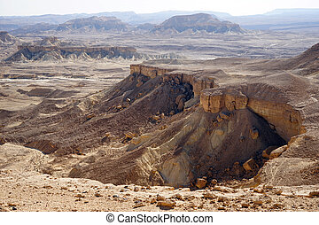 Crater Ramon - Mountain in crater Ramon in Negev desert,...