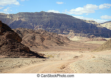 Timna park - Color mountain in Timna park in Negev desert,...