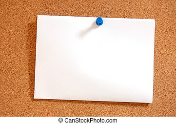 empty sheet paper with push pin - blank and empty sheet of...