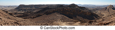 Crater Ramon - Footpath in crater RAmon in Negev desert,...
