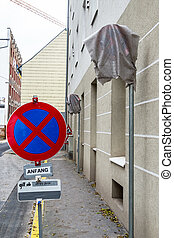 no parking - wrapped traffic signs, icon for traffic, no...
