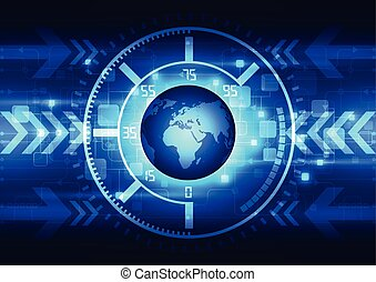 vector abstract global future technology, electric telecom...