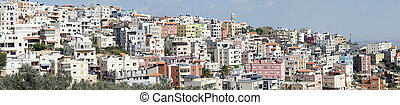 Nazareth - NAZARETH, ISRAEL - CIRCA OCTOBER 2014 Panorama of...