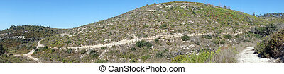 Carmel - Panorama of mount Carmel in Israel...