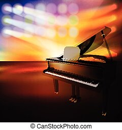abstract jazz background with piano on music stage -...
