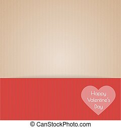 brown cardboard with happy valentin