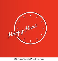 happy hour background with clock - happy hour with clock on...