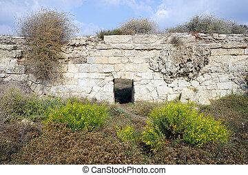 Aqueduct - Part of ancient aqueduct near Caesarea, Israel...