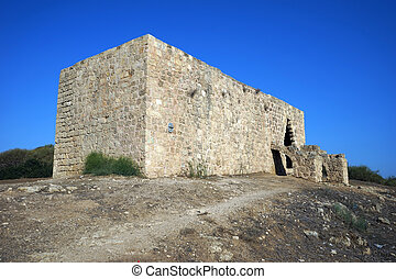 Hirbat Samara - Ruins of Hirbat Samara in Nahal Alexander...