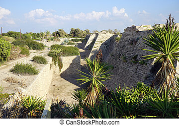 Fortification - Walls of city fortification in ancient...