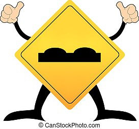 Road Sign beware surface roughness