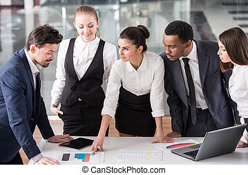 Business people - Group of business people are discuss a...