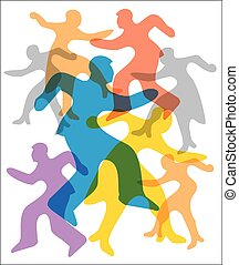Abstract people silhouettes backgro - Abstract background...