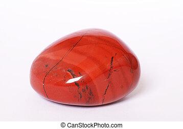 vermelho, jasper, pedra