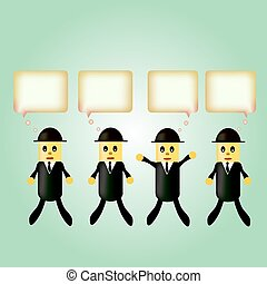 the concept of the idea business success. businessman with light