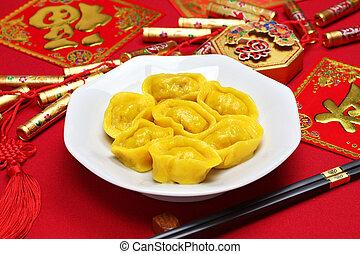 chinese gold ingot dumplings - homemade chinese gold ingot...