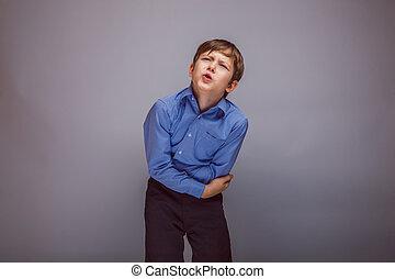 Pojke, hans, brun, över, Fästen, uppträden, stom, tonåring,...