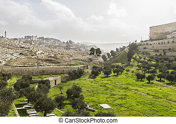 Kidron Valley. Jerusalem - Kidron Valley. Left the Jewish...
