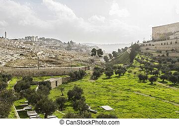 Kidron Valley. Jerusalem - Kidron Valley. Left the Jewish...