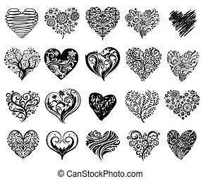 Tattoo hearts.