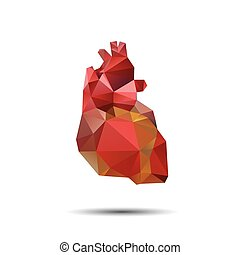 Heart abstract isolated on a white backgrounds