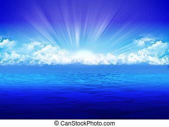 Sea - Beautiful seascape with rising sun