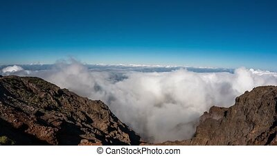 4k Time Lapse, La Palma, Roque De Las Muchachos in the...