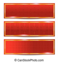Abstract chinese red background and gold border
