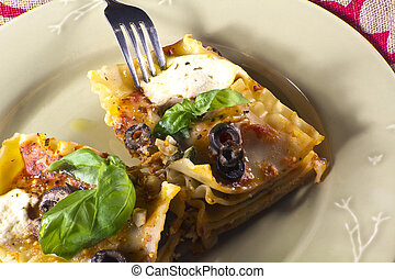 Vegetarian Lasagna Dinner - Vegan or vegetarian lasagna...