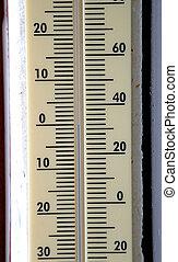 Mercury mark at zero degrees temperature